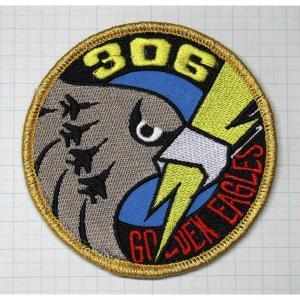 航空自衛隊グッズ  小松基地 306飛行隊ゴールデンイーグルスワッペン・パッチ|hisyo