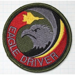 航空自衛隊グッズ  那覇基地 204飛行隊 EAGLE DRIVERロービジワッペン・パッチ hisyo