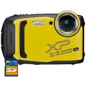 SDHCカード8GB付き 【送料無料】 FUJIFILM・フジフィルム 25m防水・1.8m耐衝撃構造デジカメ FinePix XP140 イエロー|hit-market