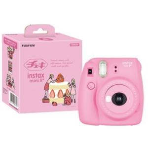 【送料無料】FUJIFILM・フジフイルム インスタントカメラ チェキmini8 プラス ストロベリー instax mini 8+ ナチュラル