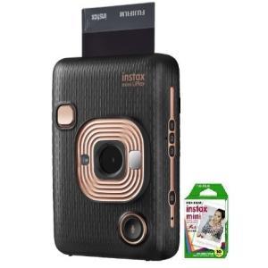 フィルム1本付き【送料無料】フジフイルム FUJIFILM カメラ&スマートフォン用プリンター チェキ instax mini LiPlay ELEGANT BLACK