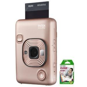 フィルム10枚付き【送料無料】フジフイルム FUJIFILM カメラ&スマートフォン用プリンター チェキ instax mini LiPlay BLUSH GOLD 【***特別価格***】