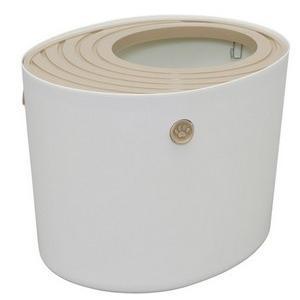 ■商品特徴 猫砂が飛び散りにくい縦型でおしゃれなネコトイレ 縦型で上に穴が空いている仕様なのでニオイ...