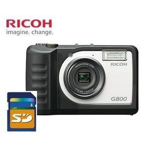 SDHCカード4GB付き【送料無料】 RICOH・リコー 防水・防塵・耐衝撃デジタルカメラ G800 工事現場 現場用 現場監督 工事用などに|hit-market