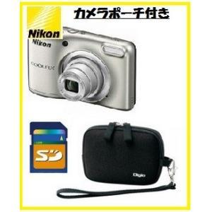 今ならカメラポーチ・SDHCカード8GB付き【送料無料】Nikon・ニコン らくらくオート撮影搭載・単三電池対応 COOLPIX A10 シルバ-[COOLPIX L32の後継機]|hit-market