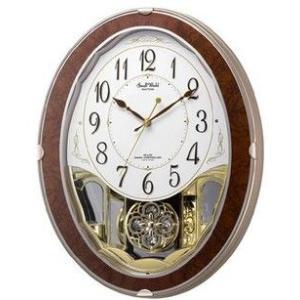 【送料無料】RHYTHM・リズム時計 電波掛け時計 スモールワールドグレース 4MN517RH23|hit-market