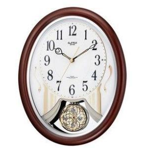 【送料無料】リズム時計 電波掛け時計 スモールワールドストリーム 4MN510RH06|hit-market