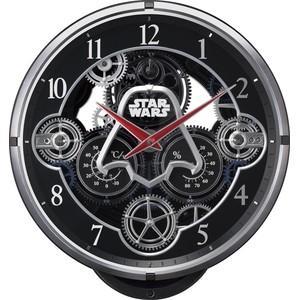 【送料無料】RHYTHM・リズム時計 電波からくり時計 KARAKURI CLOCK/スター・ウォーズ 4MN533MC02 4MN533MC-02|hit-market