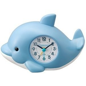 RHYTHM・リズム時計 イルカの声 目覚まし時計 起きてイルカ?SR 4SE553SR04|hit-market