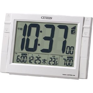 CITIZEN・シチズン 電波目覚まし時計 パルデジットワイドDS 8RZ150-003 hit-market