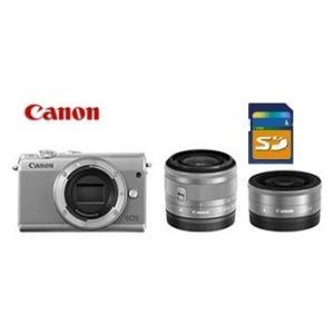 今ならSDHCカード8GB付き【送料無料】キヤノン Canon ミラーレス EOS M100 ダブルレンズキット ホワイト|hit-market