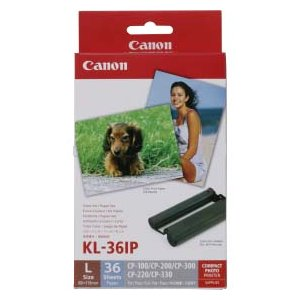 キヤノン・Canon セルフィCP1300用 インクペーパーセットLサイズ36枚分 KL-36IP
