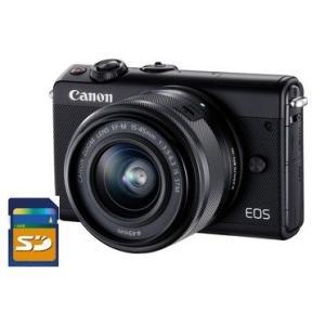 今ならSDHCカード8GB付き【送料無料】キヤノン Canon ミラーレス EOS M100 EF-M15-45 IS STM レンズキット ブラック|hit-market
