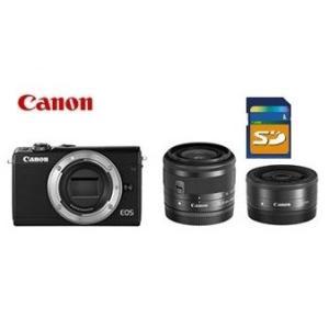 今ならSDHCカード8GB付き【送料無料】キヤノン Canon ミラーレス EOS M100 ダブルレンズキット ブラック|hit-market