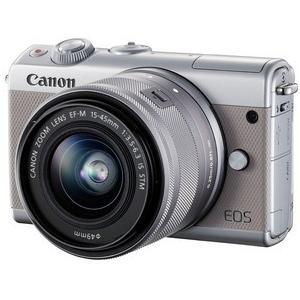 今ならSDHCカード8GB付き【送料無料】キヤノン Canon ミラーレス EOS EOS M100 ダブルズームキット グレー hit-market 02