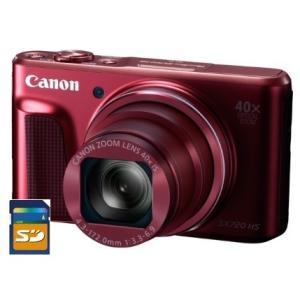 今ならSDカード8GB差し上げます【送料無料】Canon・キヤノン 光学40倍ズーム PowerShot SX720HS レッド|hit-market