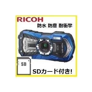 【SDHCカード付き】RICOH・リコー 本格防水・耐衝撃・防塵・耐寒性能搭載&Wi-Fi機能内蔵 WG-40W ブルー|hit-market