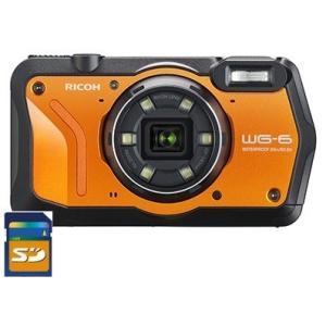 SDHCカード8GB付き【送料無料】リコー RICOH WG-6 オレンジ 防水 耐衝撃 防塵 耐寒 アウトドア GPS搭載 デジカメ CALSモード WG-6  OR|hit-market