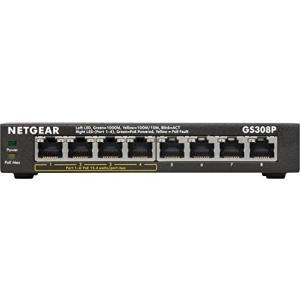 GS308P ギガビット8ポートLayer2アンマネージ・スイッチ(PoE4ポート 15.4W給電)...