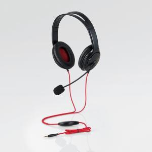 ゲーム向け/4極/両耳オーバーヘッド/1.0m/1.5m延長ケーブル付/PS4/Switch対応/ブラック HS-GM20BK ヒットライン