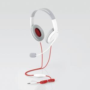 ゲーム向け/4極/両耳オーバーヘッド/1.0m/1.5m延長ケーブル付/PS4/Switch対応/ホワイト HS-GM20WH ヒットライン