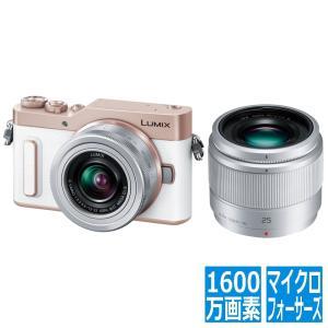 ミラーレス一眼カメラ ルミックス GF10 ダブルレンズキット 標準ズームレンズ/単焦点レンズ付属 ...