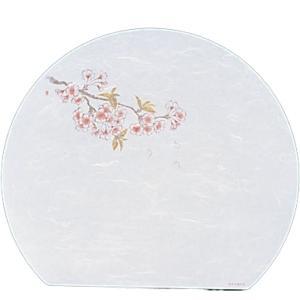 遠赤抗菌和紙 尺3半月まっと(100枚) 桜 WH-9 QMT10