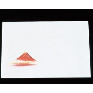 尺三 懐石まっと 抗菌遠赤和紙(100枚入)WS-1 赤富士 QMT18