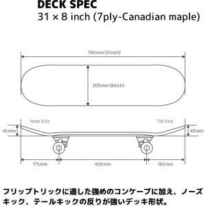 スケートボード 31インチ | カナディアンメープルデッキ コンプリート シンプル オイルステイン ABEC5 ベアリング トリック DSB-10【返品不可】|hitline|02
