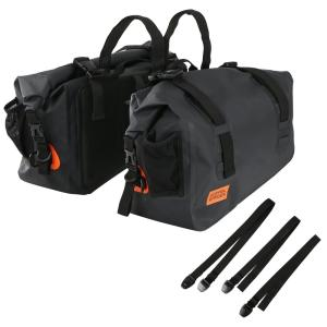 ターポリン サイドバッグ | 防水 バイク サイド バッグ キャンプ ツーリング 40リットル 40...