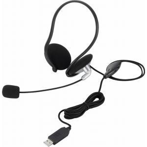 USBスヘッドセットマイクロフォン/両耳ネックバンド/1.8m HS-NB05USV ヒットライン