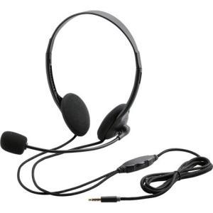 4極ヘッドセットマイクロフォン/両耳オーバーヘッド/1.8m HS-HP22TBK ヒットライン