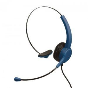 快適ヘッドセット 片耳 USBタイプ ユートリムエル ネイビー UL-1508-K ヒットライン