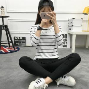 送料無料 チュニック Tシャツ カットソー ホワイト ブラック ボーダー 長袖 秋冬 秋冬 2020...