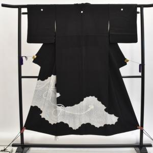 リサイクル着物 黒留袖 中古 仕立て上がり 正絹 hh2960|hitotoki