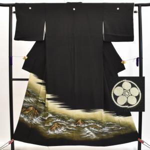 リサイクル着物 黒留袖 中古 仕立て上がり hh3228|hitotoki