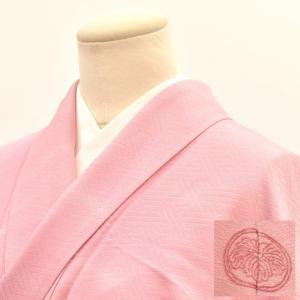 リサイクル着物 色無地 中古 仕立て上がり 正絹 一つ紋 hh3370|hitotoki