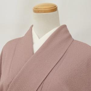 色無地 中古 リサイクル 正絹 一つ紋 縮緬 藤色 裄61.5cm Mサイズ hh3387|hitotoki
