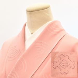 リサイクル着物 色無地 中古 仕立て上がり 正絹 一つ紋 hh3844|hitotoki