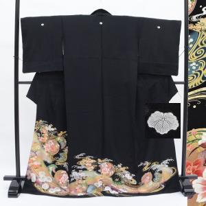 リサイクル着物 黒留袖 中古 仕立て上がり ii0218a40
