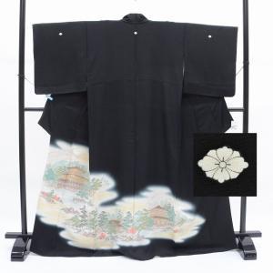 リサイクル着物 黒留袖 中古 仕立て上がり ii0222a40|hitotoki