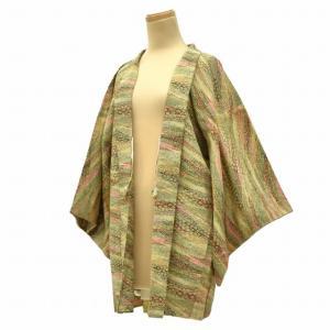羽織 着物 中古 リサイクル 洗える 化繊 裄63.5cm|hitotoki