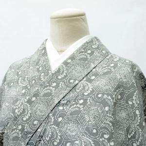 リサイクル着物 たて節紬 中古 正絹 ii3432a20|hitotoki