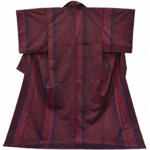 リサイクル 紬 中古 正絹 つむぎ 特選 縞文様 モデルサイズ身丈|hitotoki