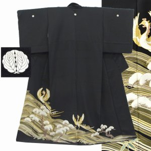 リサイクル着物 黒留袖 中古 仕立て上がり ii3527a15|hitotoki