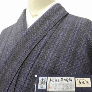 リサイクル着物 赤城紬 中古 正絹 jj1742a50