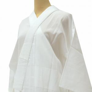 リサイクル着物 長襦袢 中古 ながじゅばん 化繊 洗える 夏物 絽 白 jj2391c|hitotoki