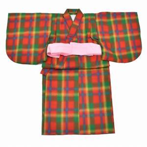 お宮参り 女の子 お祝い着 産着 初着 夏物 ウール リサイクル着物 一つ身 中古 着物  kka9151b|hitotoki