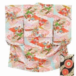 七五三 中古 女の子 七歳 着物 帯 セット 7歳 リサイクル 着物 kka9457b|hitotoki