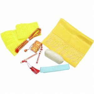 七五三 中古 女の子 和装小物 セット しごき 帯締め 帯揚げ 帯枕 はこせこ ビラ簪 末広 重ね衿 7歳 着物 kka9500b|hitotoki